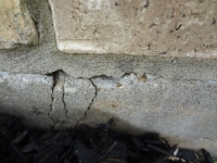 Cracks in foundation older home.