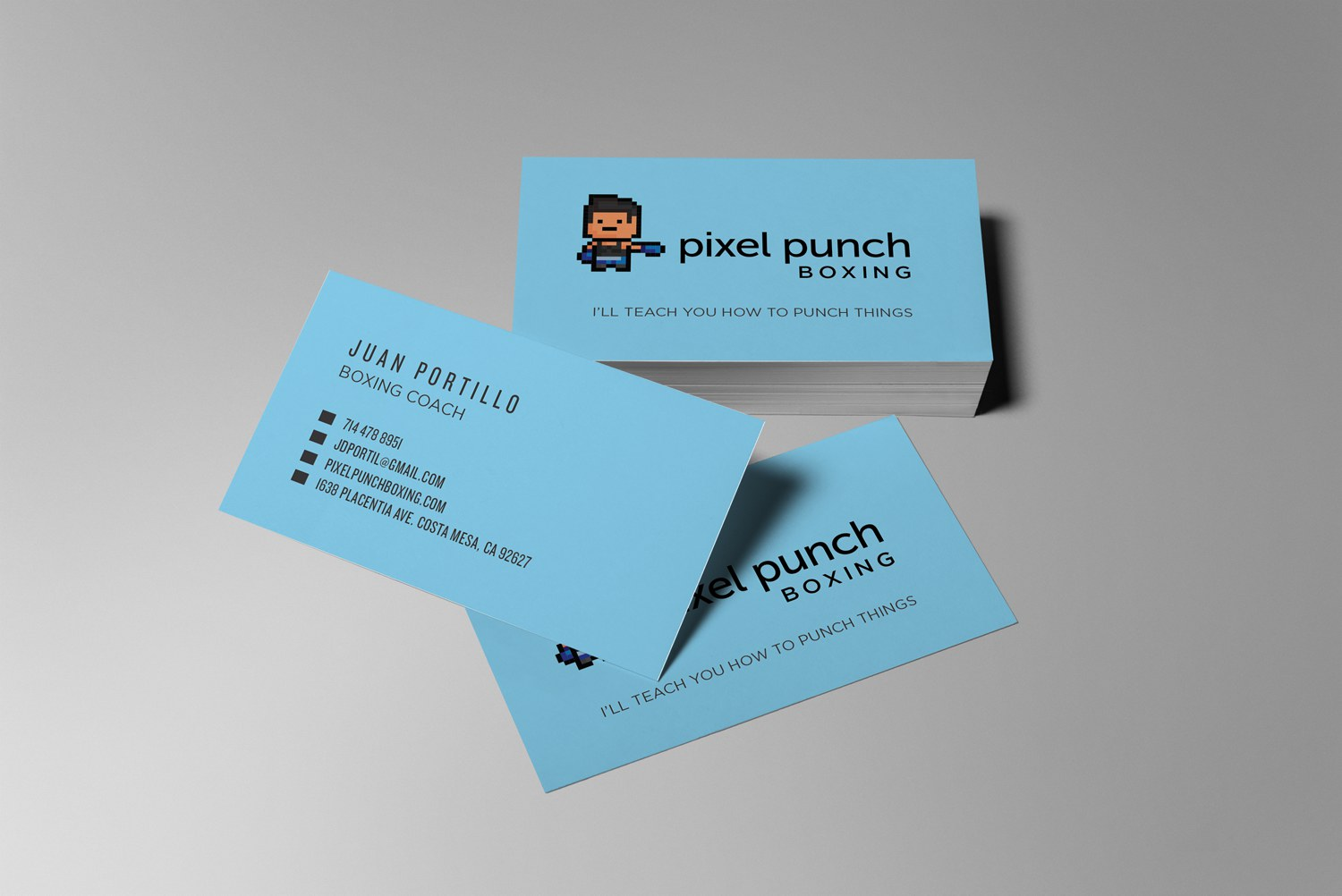 Pixel punch boxing robby bucarey pixel punch boxing costa mesa business card design magicingreecefo Images