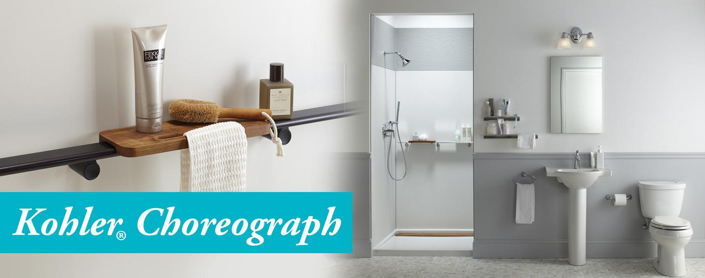 Kohler Choreograph Renovations BathMasters Masters Of Bathroom - Kohler fairfax bathroom accessories
