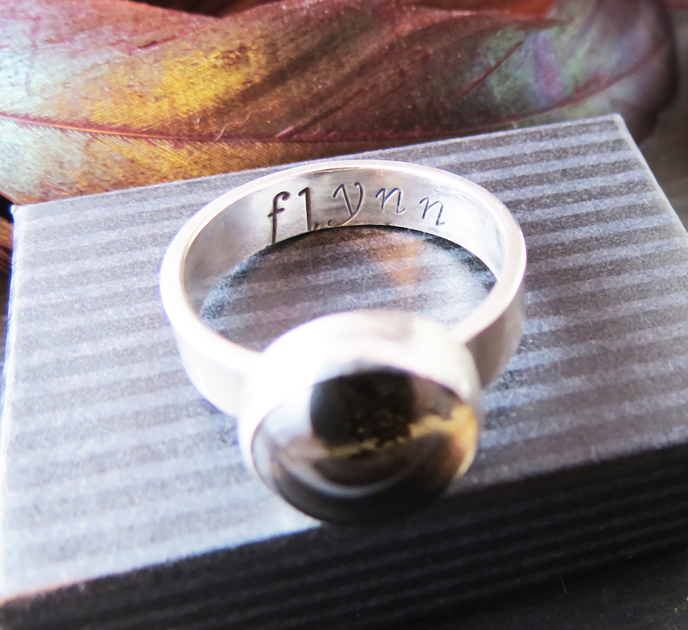 Inside band of Sterling Silver Ring