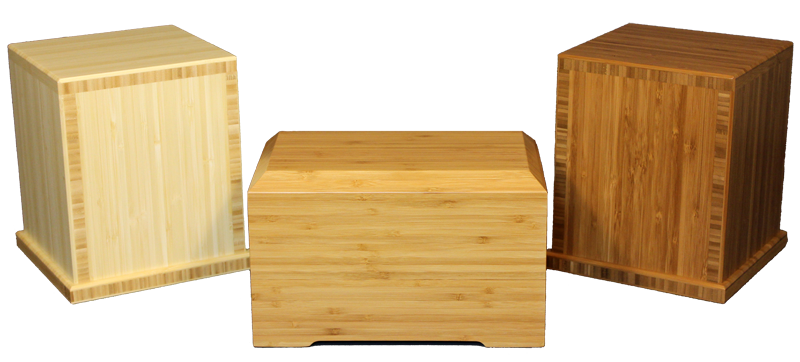 Traditional in Natural; Tribute Bamboo Urn; Traditional in Caramel