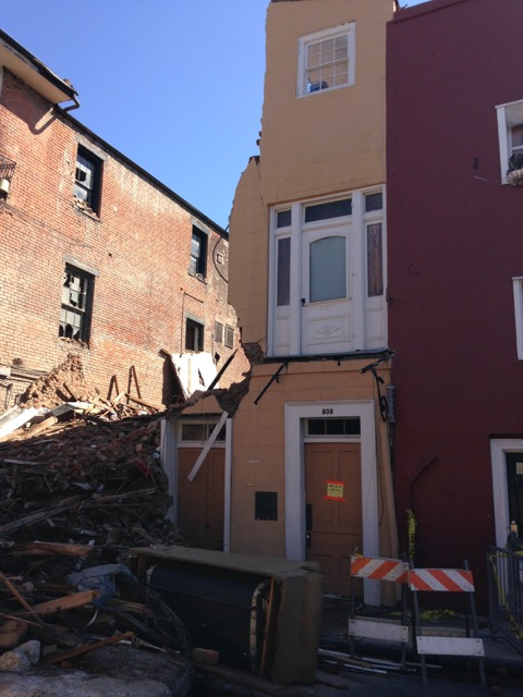 Building in the 800 Block of Royal, collapsed Oct 2014