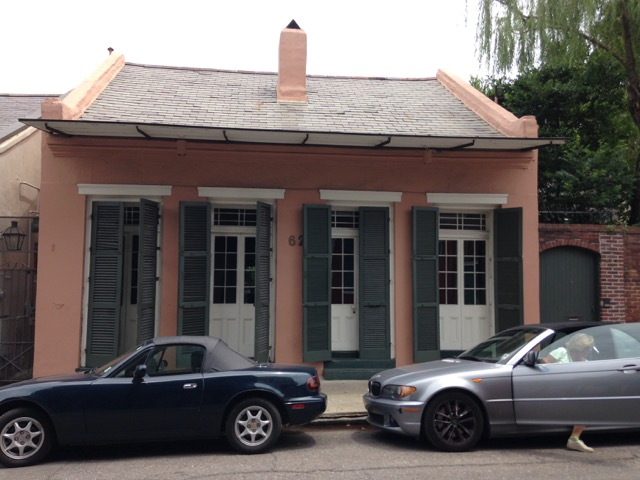 Creole Cottage on Dumaine St, French Quarter