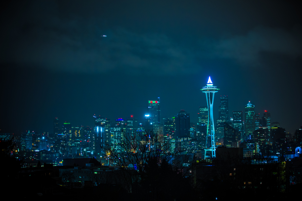 The seattle sky line.