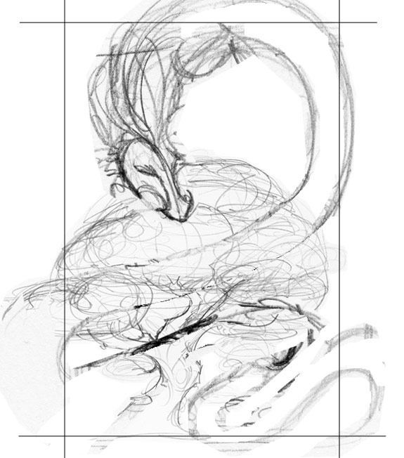 sketch: the shape of a dragon