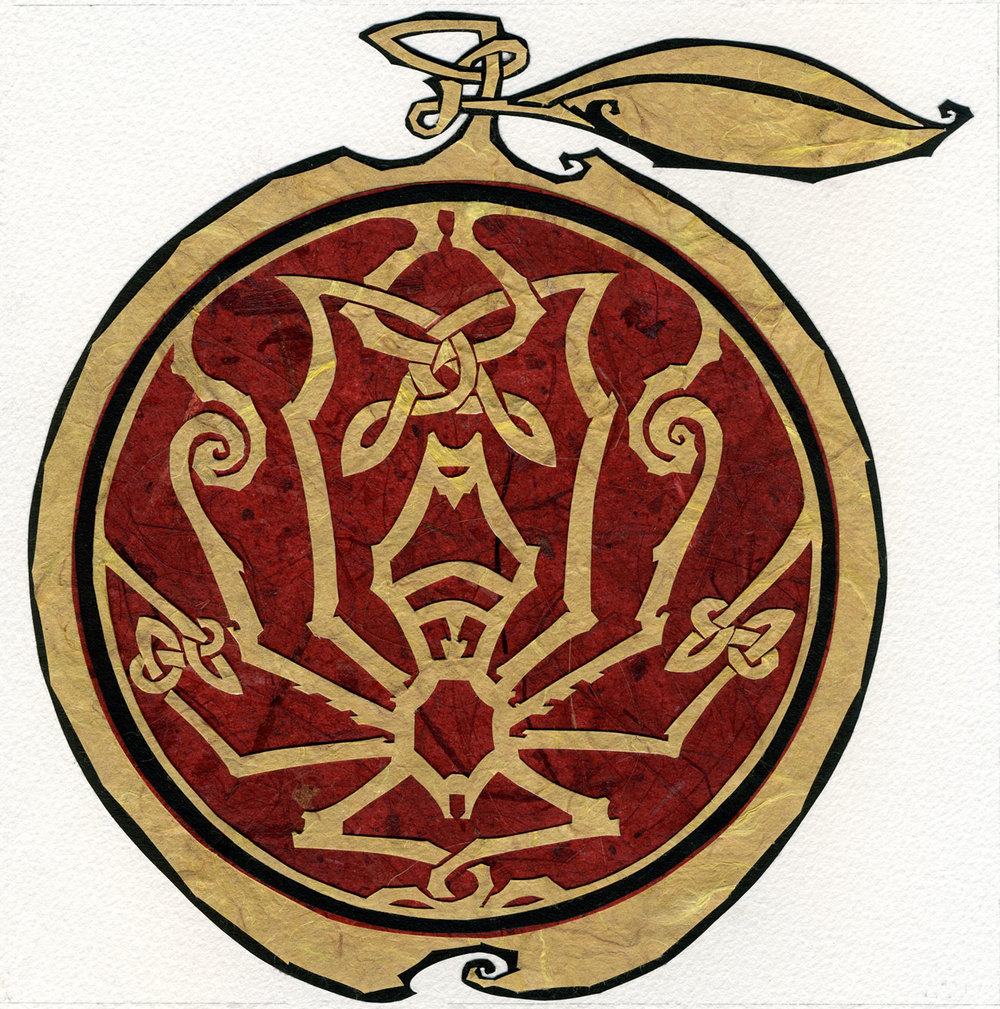 ⊛ The Apple of Idun  ⊛ cut paper / illustration board