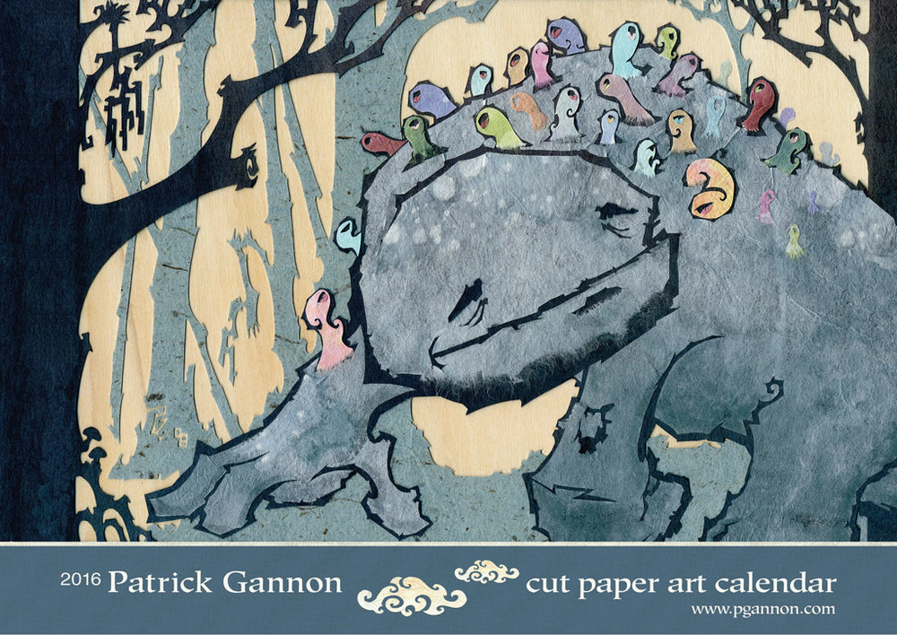 The 2016 Cut Paper Art Calendar Cover Art