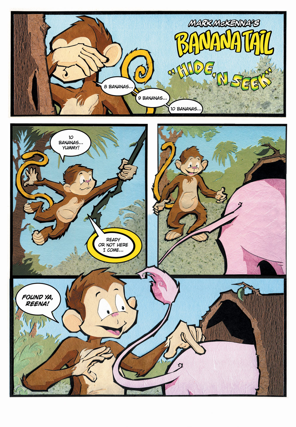BananaTail Hide & Seek, page 1