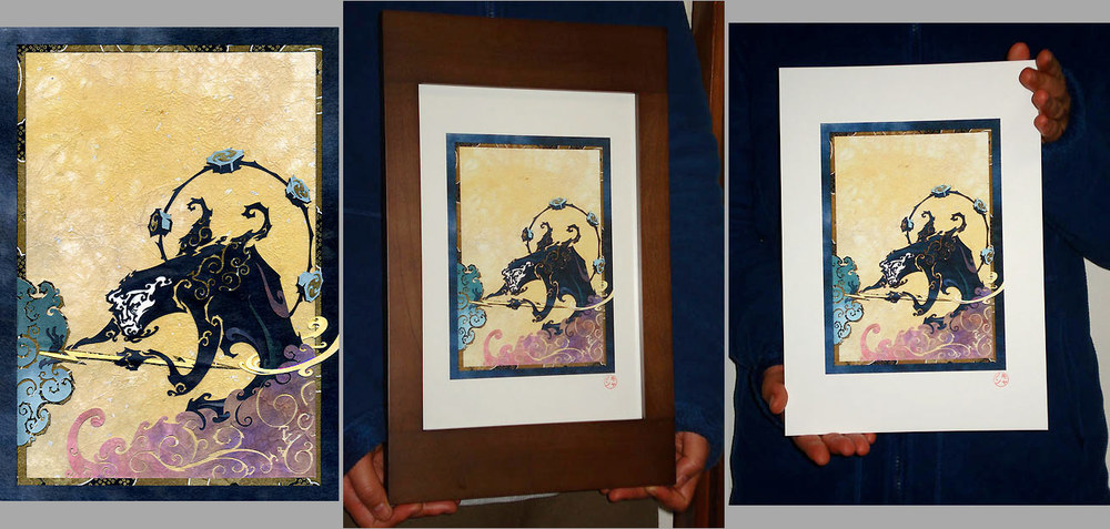 This Lightning Won't Forge Itself (Fūjin Raijin Diptych, left) (ID No.12)