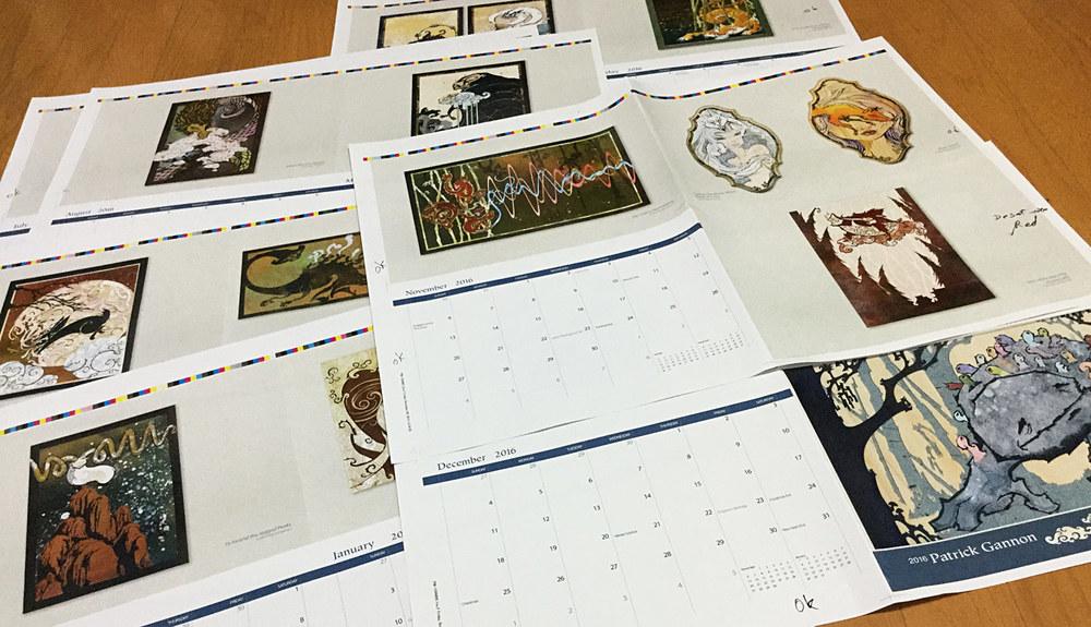 2016 Cut Paper Art Calendar