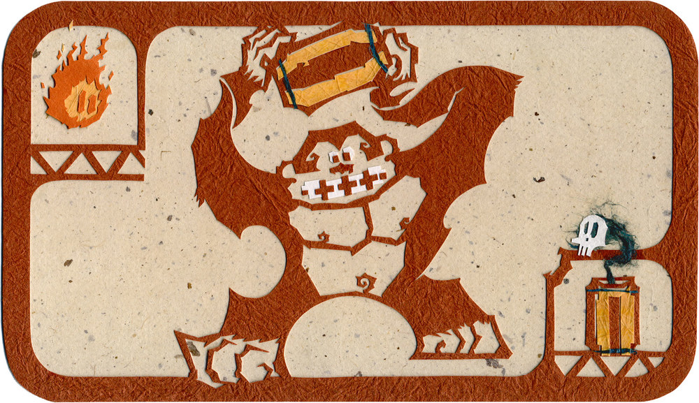 Donkey Kong! Size: 255 x 145 mm / 10 x 5 3/4 In MEDIUM: Cut + Torn Paper + washi / Illustration Board