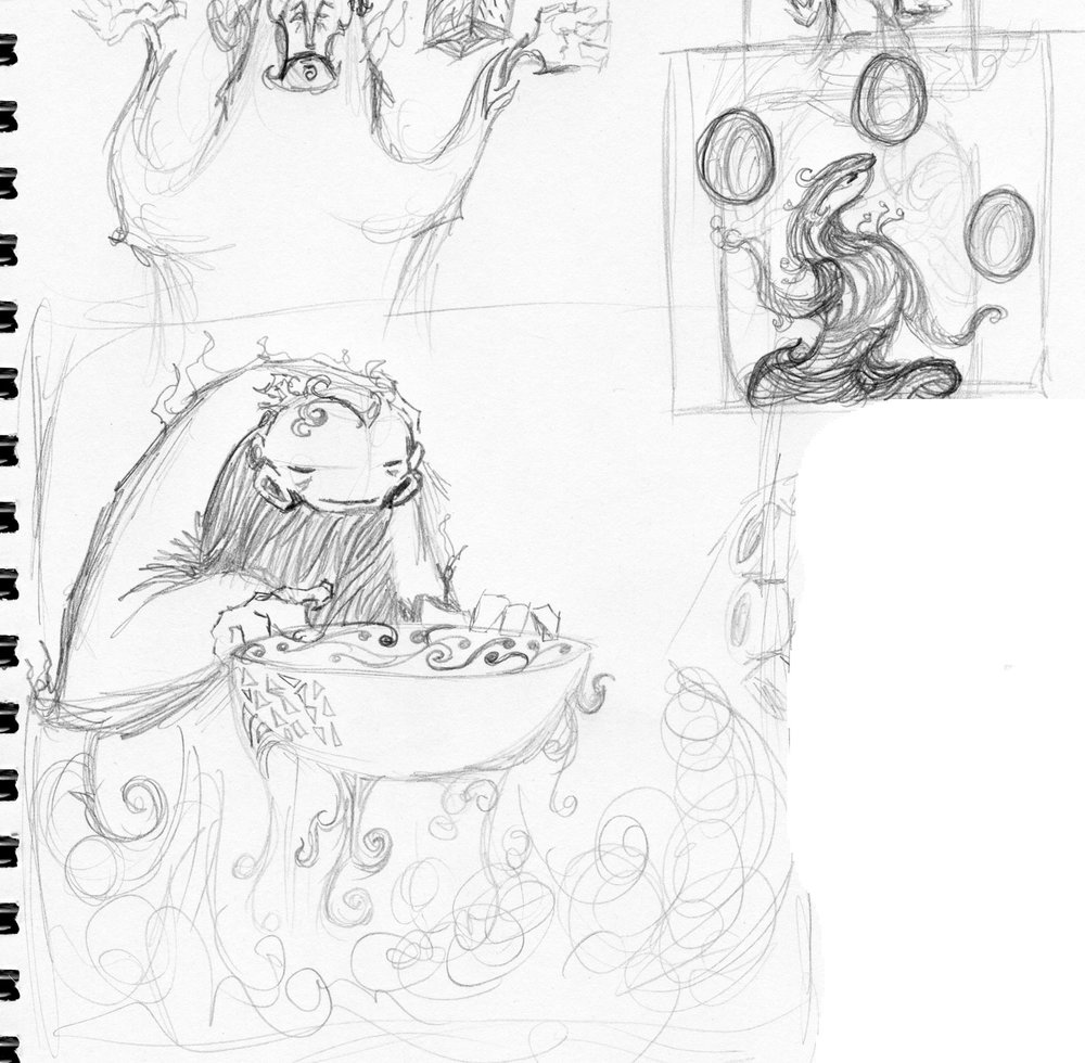 Sketches for Relics 1 & 2