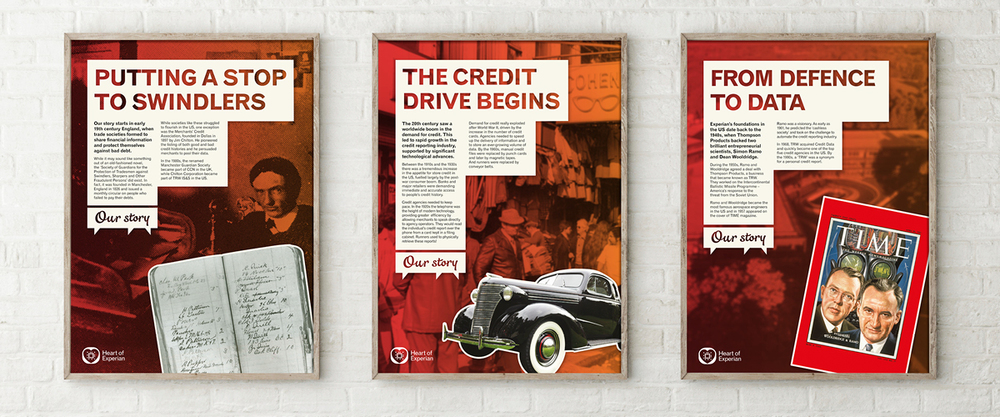 Experian 'Our story' posters