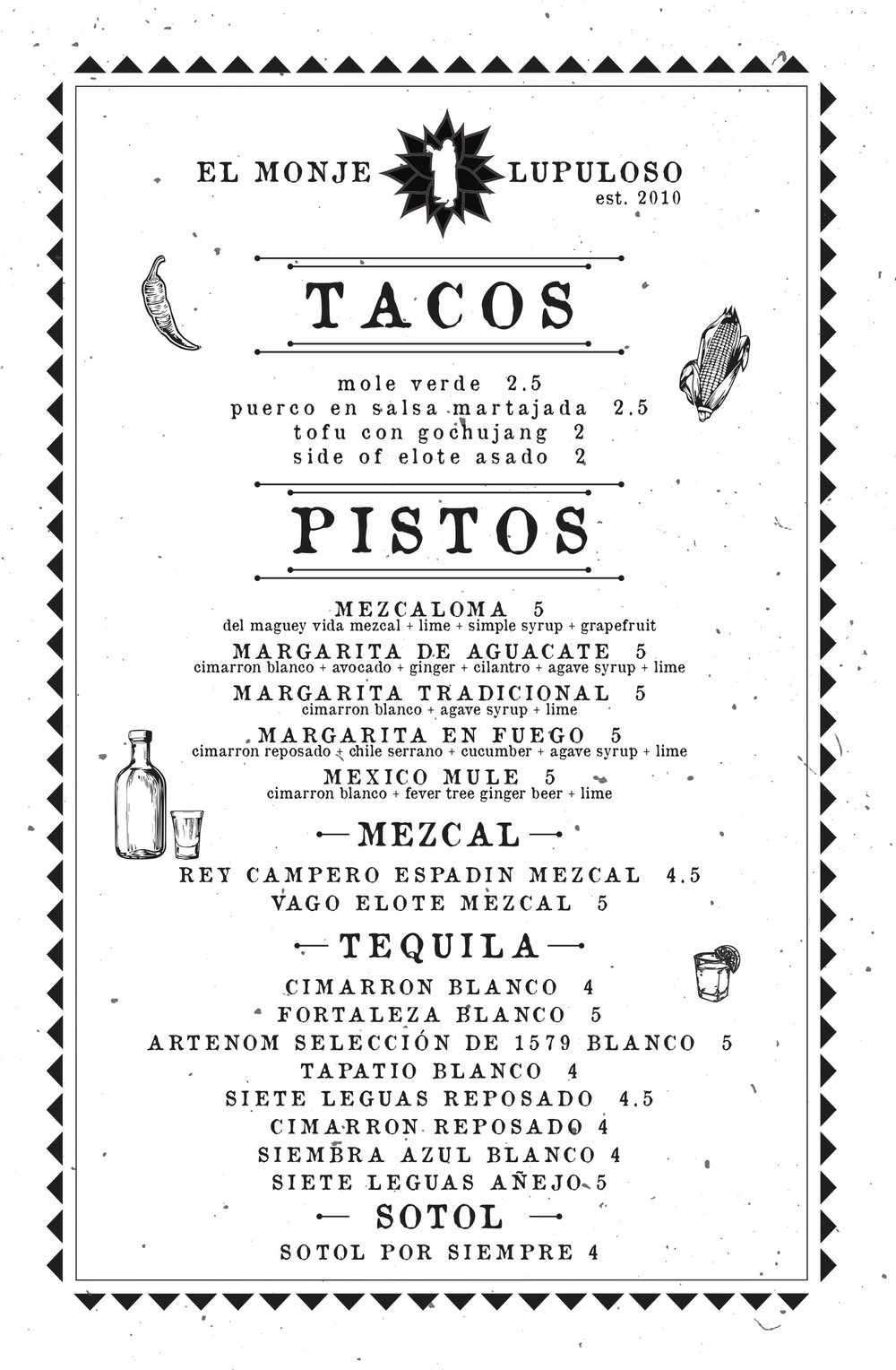 Tacos, Margaritas and Tequila Specials on Tuesdays! Yes please!