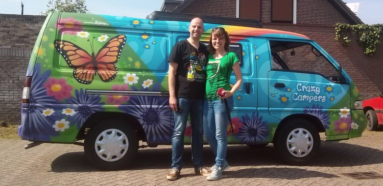 """My wife and I and """"Butterfly"""". This is how we fell in love with this way of travelling."""