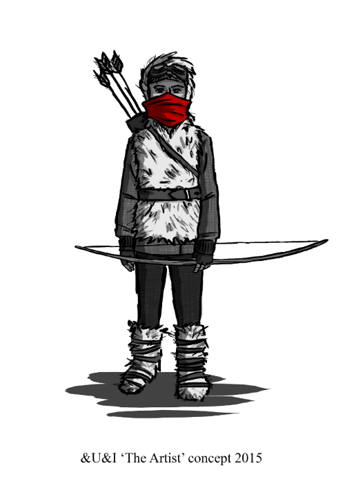 Concept art for the 'Boy' Character.