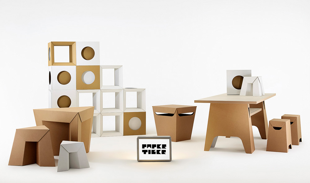 Paper Tiger Cardboard Furniture full range (light)