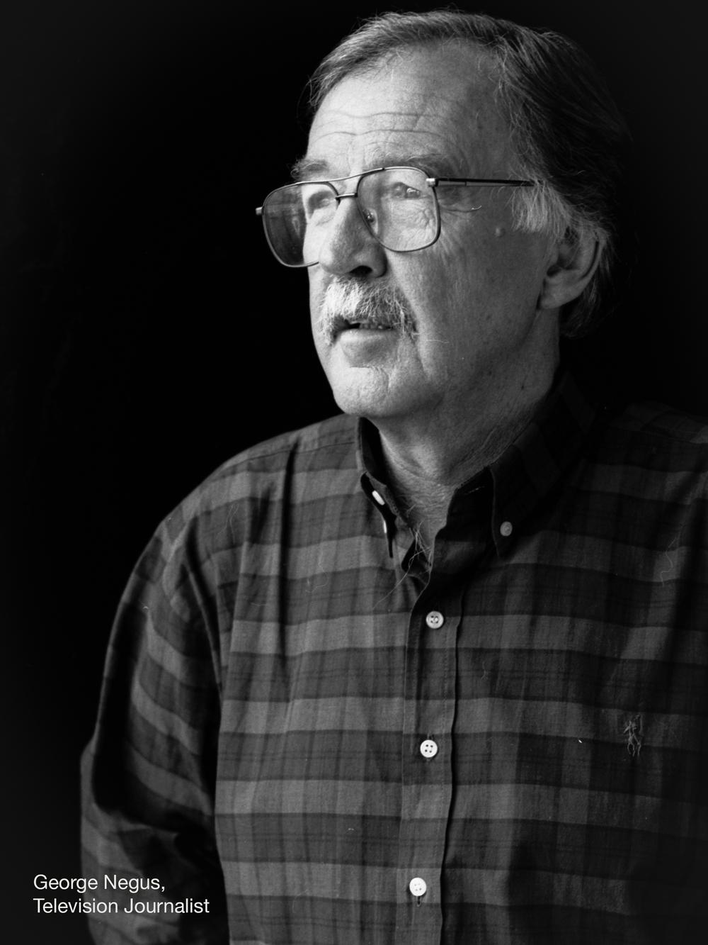 Portrait of Australian television journalist George Negus. Client: Foxtel © Kiren