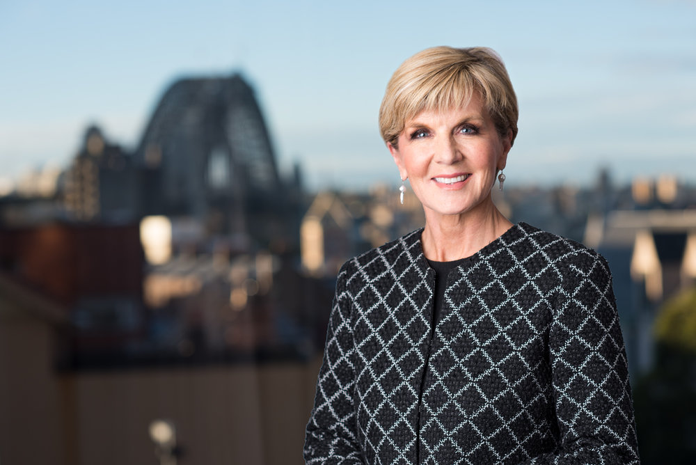 Editorial shoot with the Minister of Foreign Affairs  Julie Bishop . Photo © Kiren