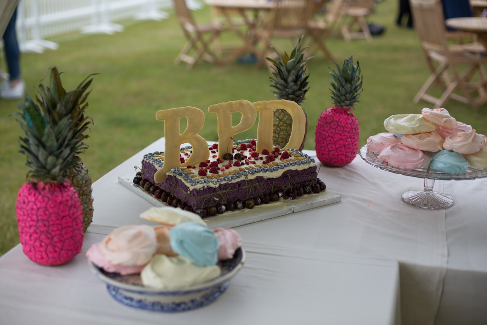 Pastel Coloured Meringues and the British Polo Day Cake: photo by Sam Churchill