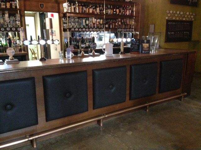 Here are some buttoned panels I made for the new Antic pub Woolwich Equitable
