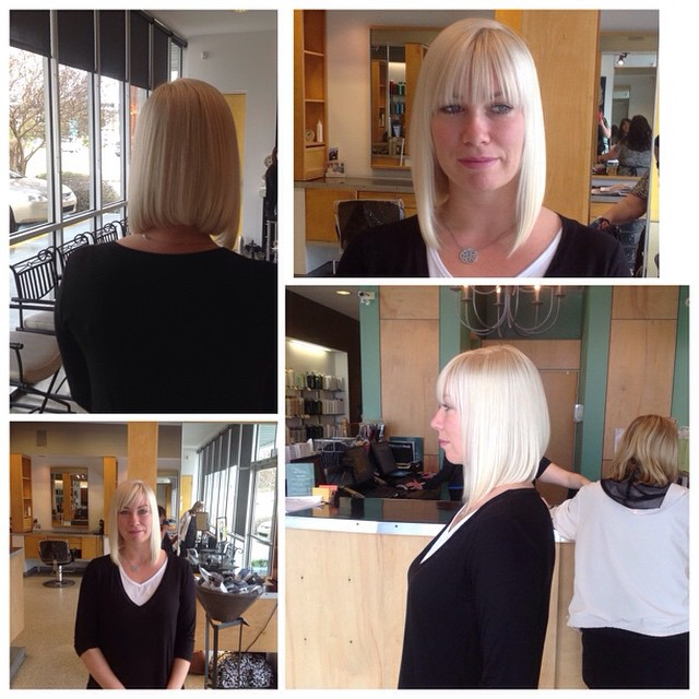 Beautiful long inverted bob by Jeffrey #invertedlob #lob