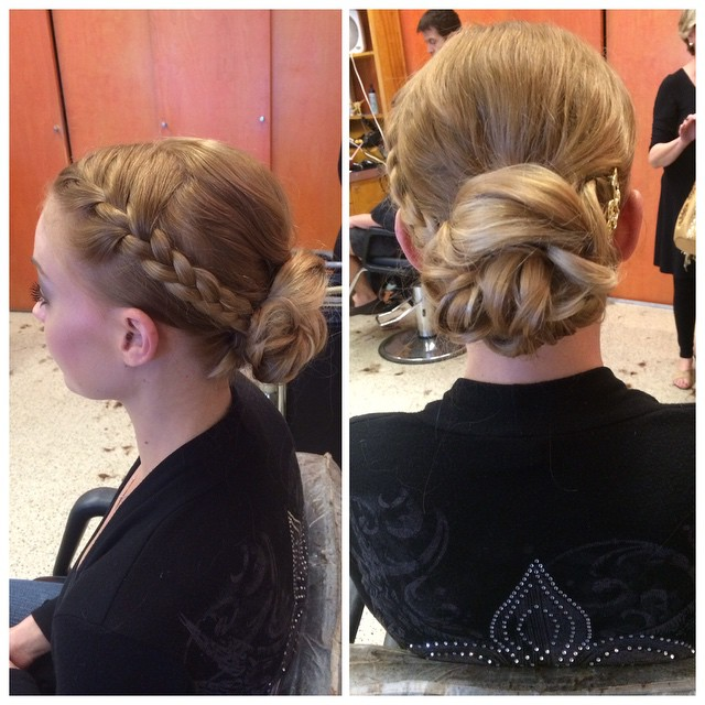 Up by @kelly_williams @updo #braid