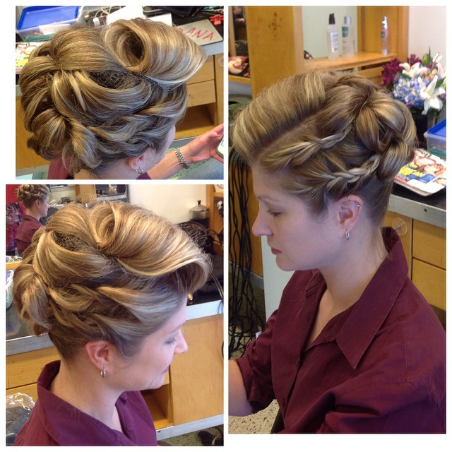 Updo by Dana! #updo #braids
