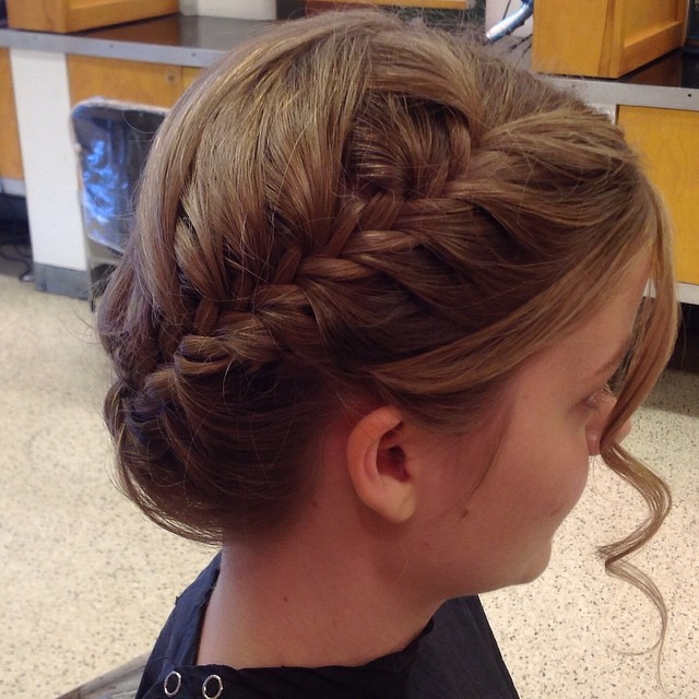 Updo by Brittany #updo #braid
