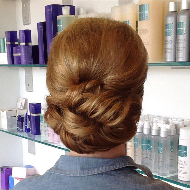 Beautiful updo today by Dana at our Metairie location. #NOLAhair #updo