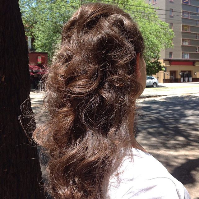 Soft and romantic hair by Cristina perfect for a summer wedding. #specialoccasionhair
