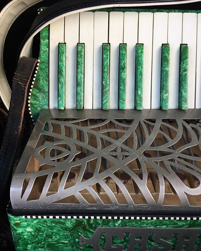 Latest accordion renovation project! Isn't she stunning!?! 😍😍😍 #Accordion #accordionlove #beautiful #madeinitaly #restoration