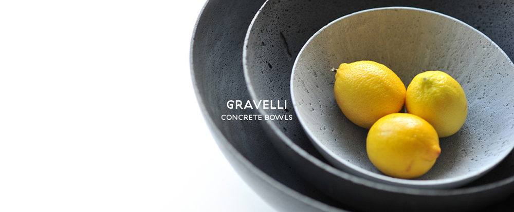 GRAVELLI - CONCRETE BOWLS