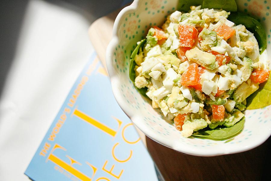 Avocado and egg salad | Lau Sunday cooks
