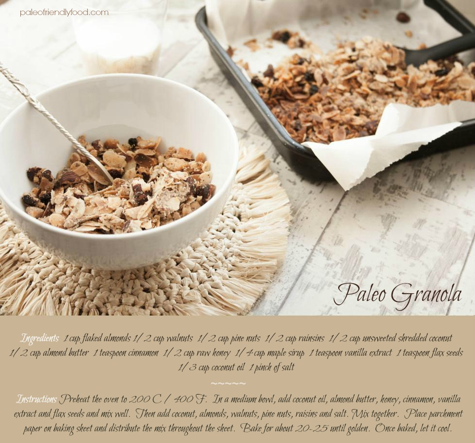 Paleo Granola Recipe   Lau Sunday cooks