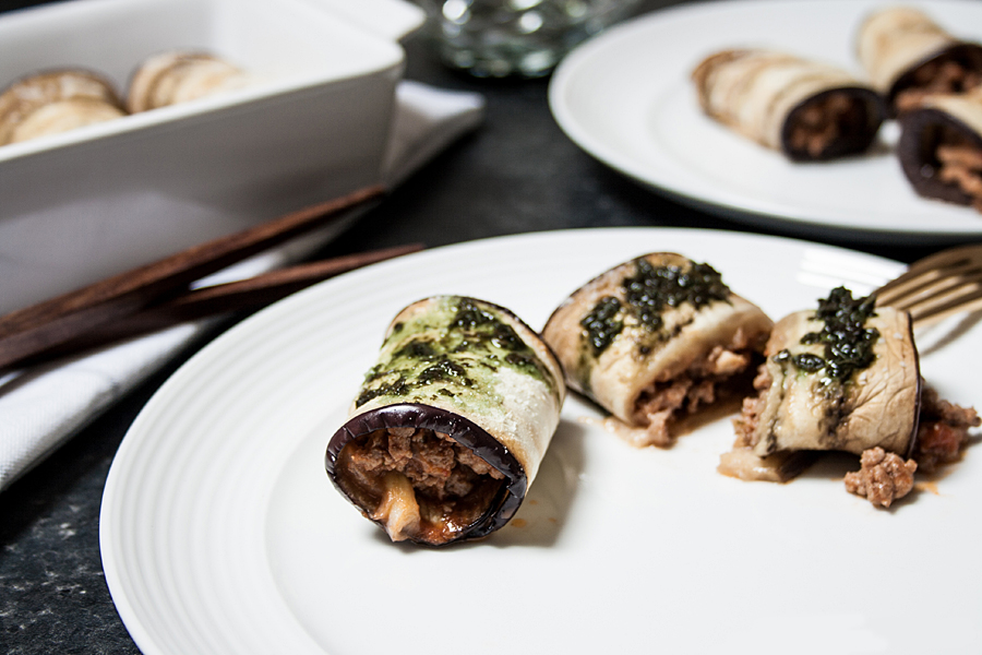 Aubergines cannelloni with mint sauce|  Lau Sunday cooks