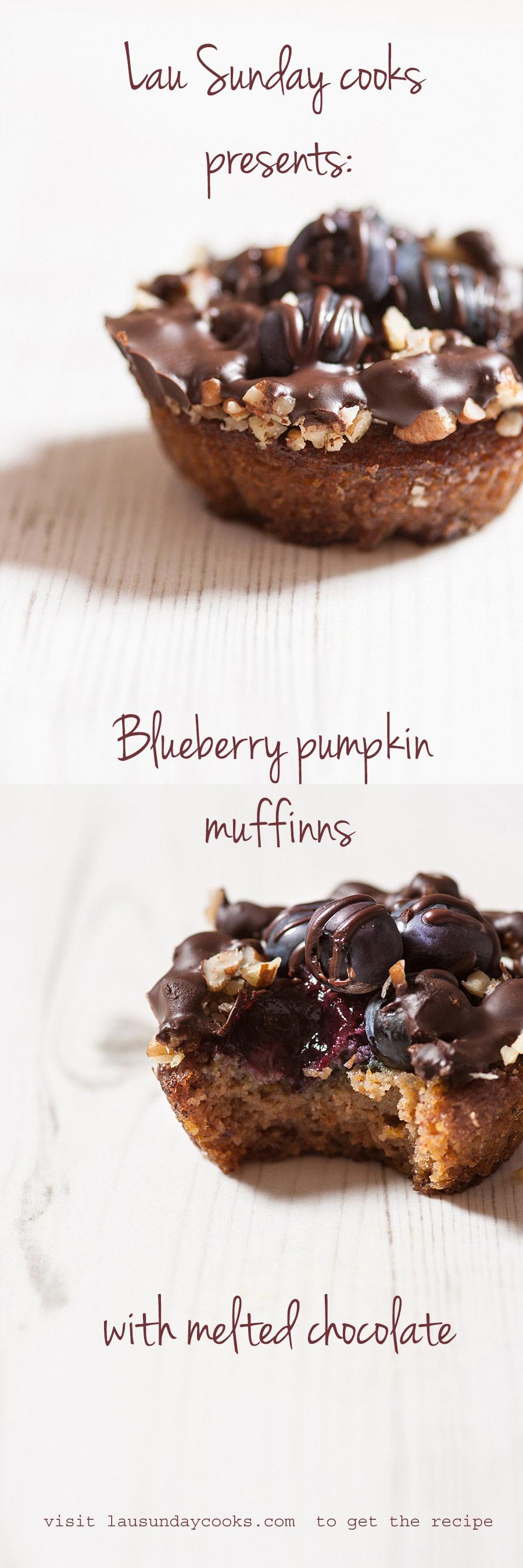 Blueberry pumpkin muffins (Paleo, GF) Pin it | Lau Sunday cooks