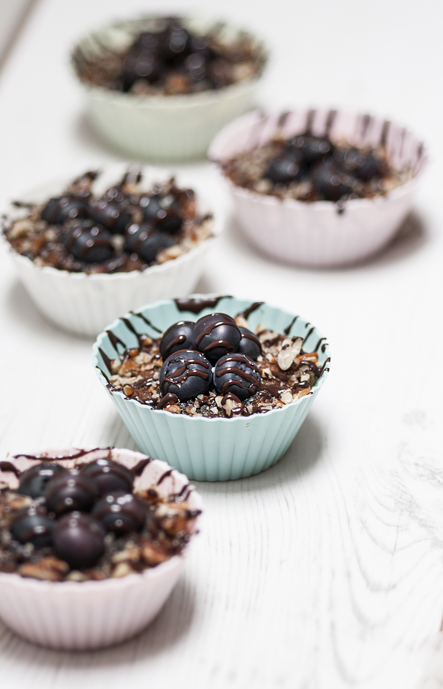 Blueberry pumpkin muffins with melted chocolate (Paleo, GF) | Lau Sunday cooks