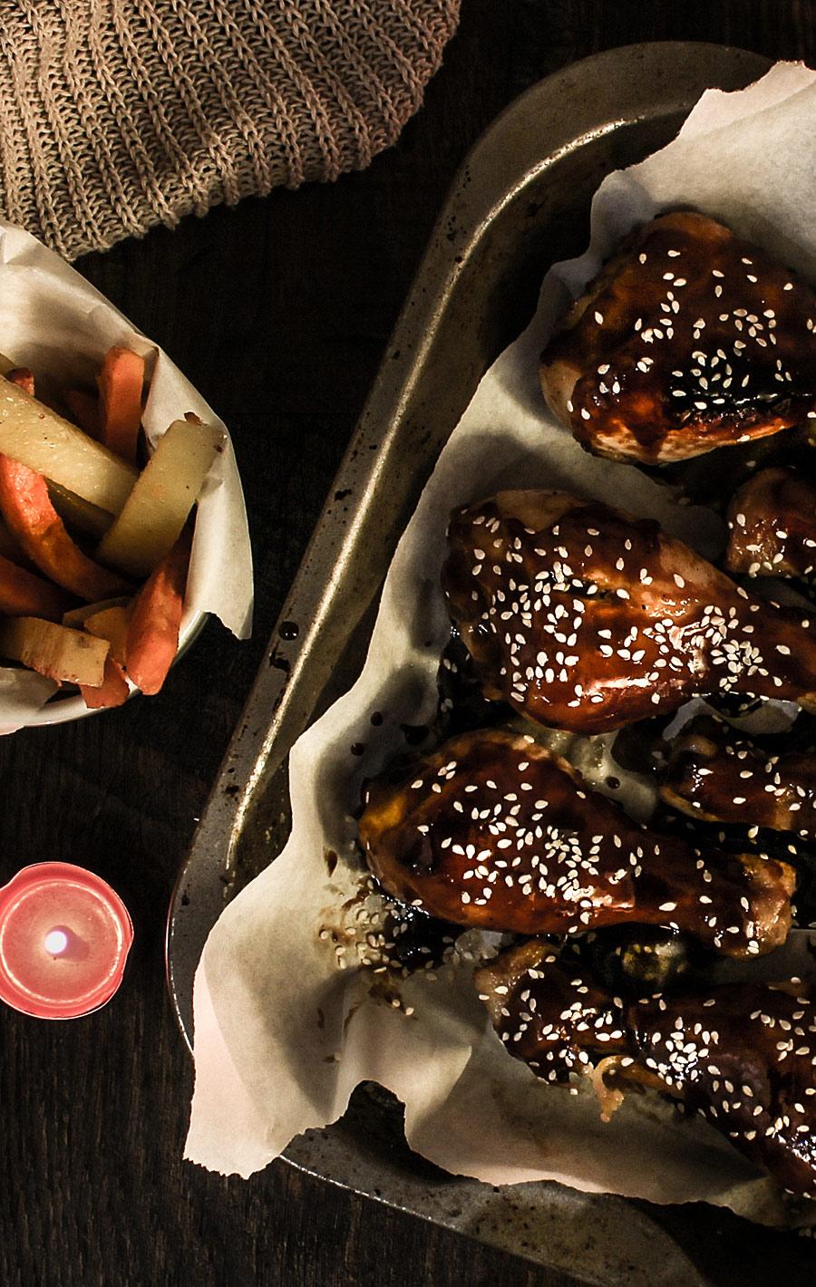 Sweet sticky dumsticks | Lau Sunday cooks.jpg