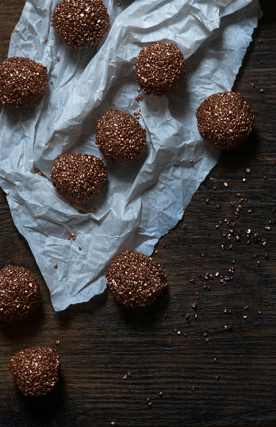 Sparkling chocolate and almond truffles (GF) - Lau Sunday cooks -5