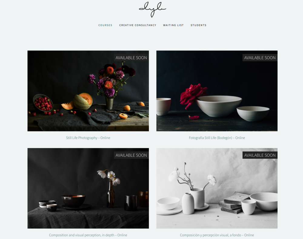Delicious yet beautiful | new courses upcoming
