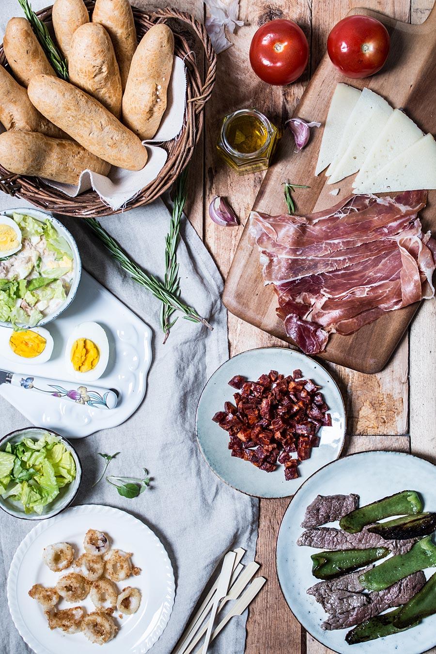Spanish tapas sandwiches (Paleo | Gluten free) | Lau Sunday cooks