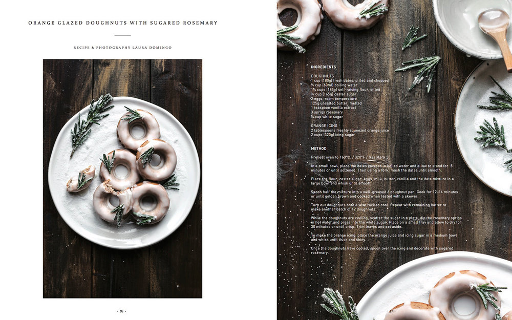 Orange glazed doughnuts with sugared rosemary for In Clover Magazine. #recipeontheblog: http://bit.ly/2eV5skZ   #glutenfree #foodphotography #foodblogger