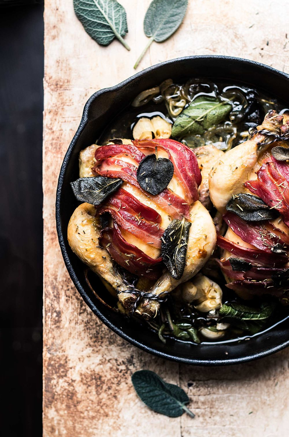 Bacon and sage poussins by Laura Domingo {Lau Sunday cooks}