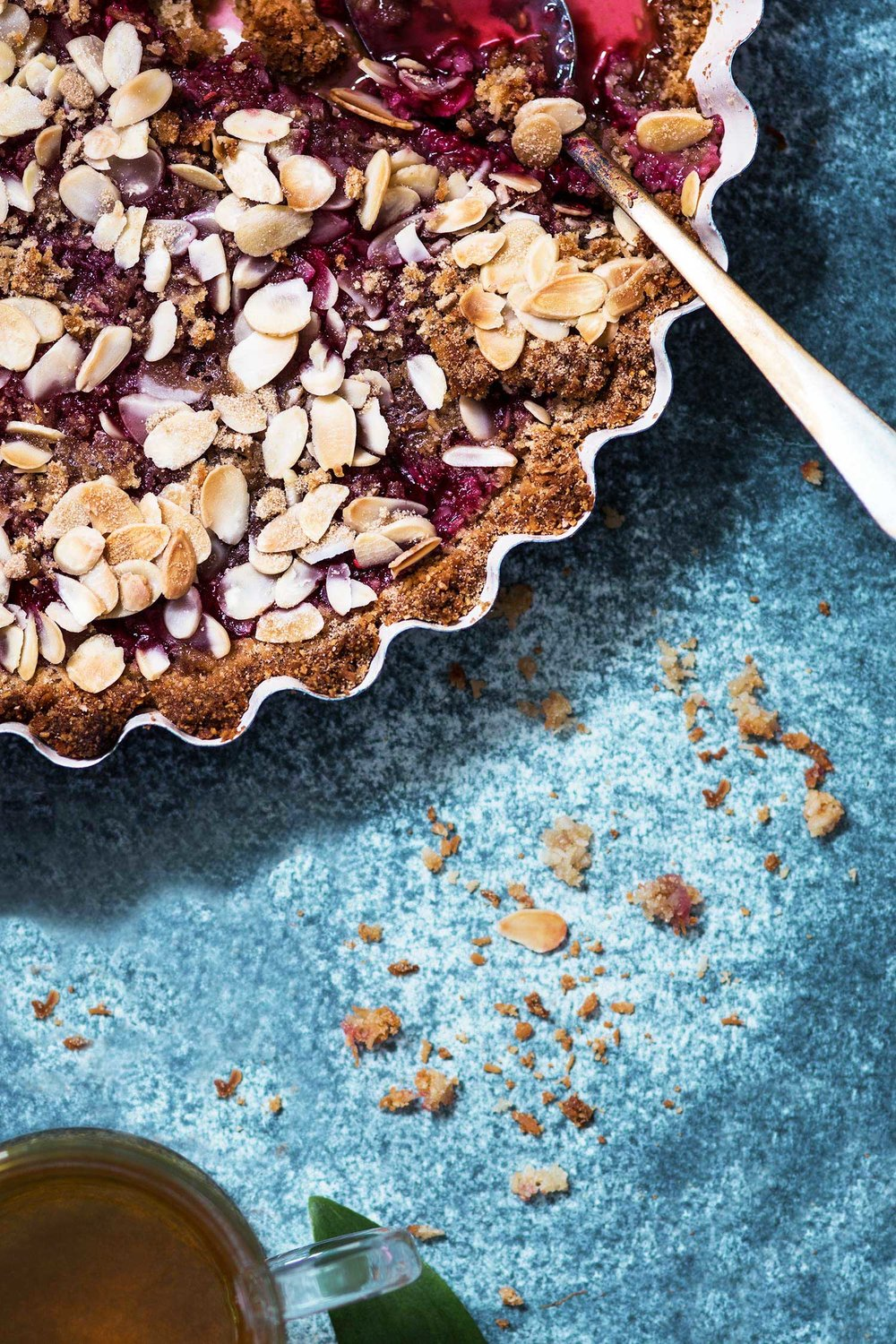 Raspberry coconut & almond crumble by Laura Domingo