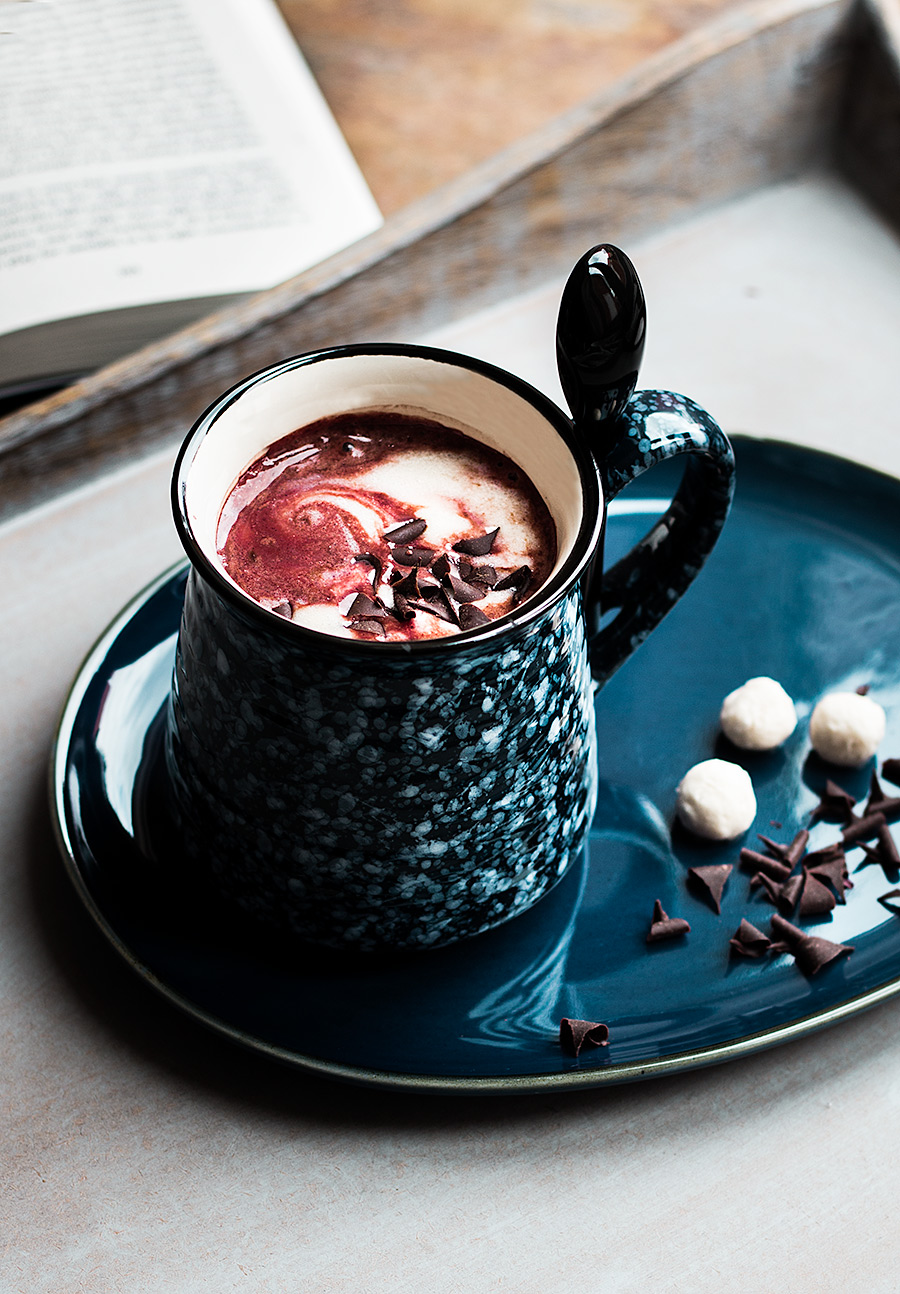 Beetroot hot chocolate by Laura Domingo
