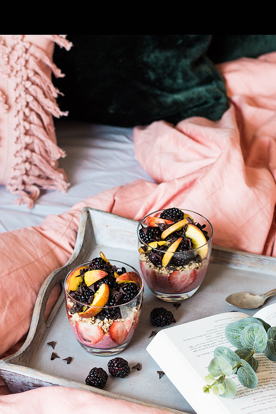 Berries chia seeds parfait breakfast by Laura Domingo