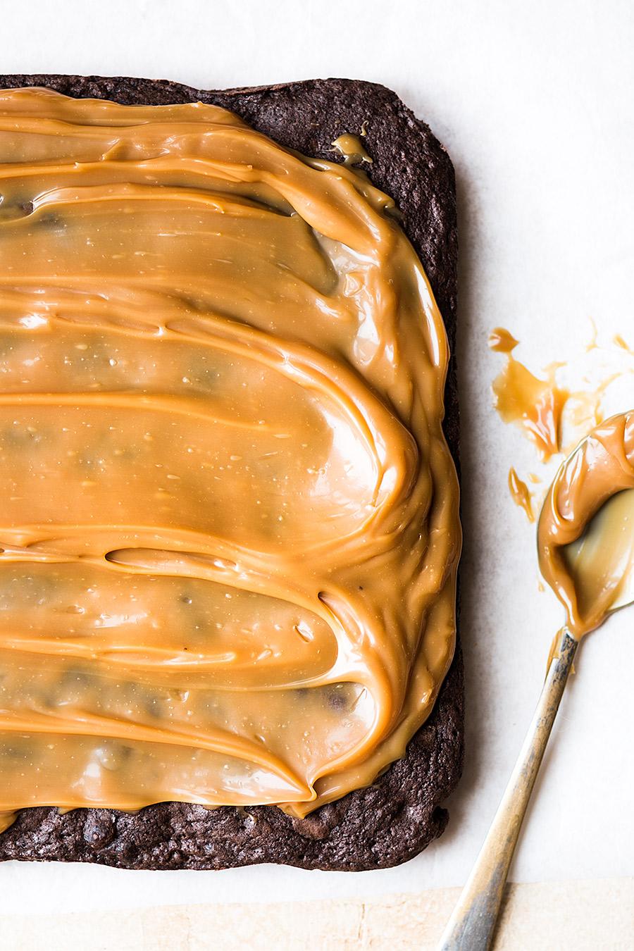 Pretzel caramel pecan brownies by Laura Domingo