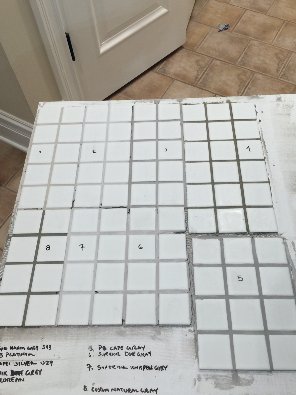 Grout. Contain your excitement.