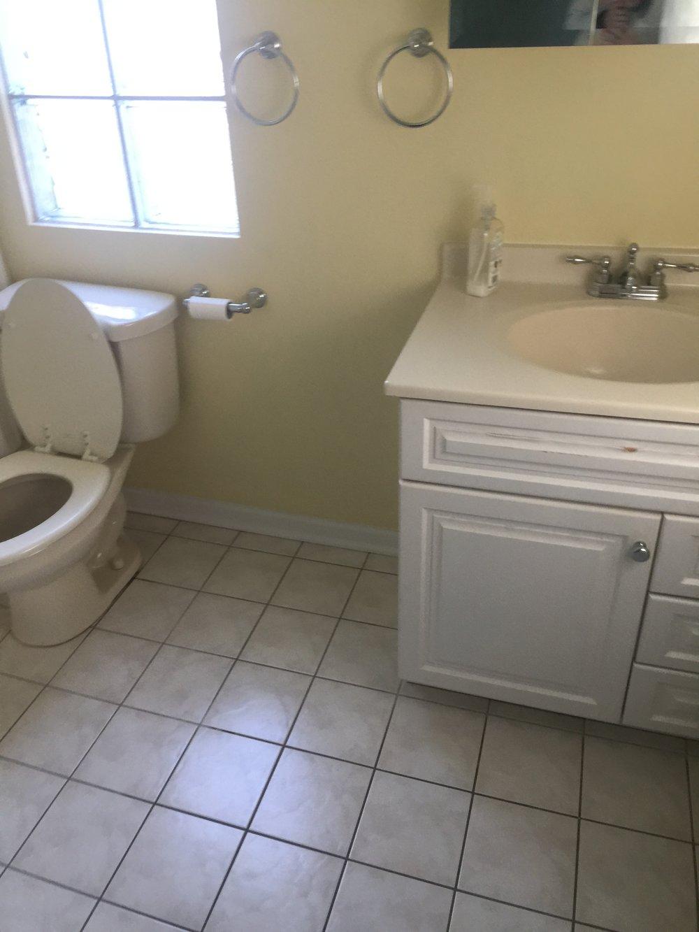 The old hall bathroom.